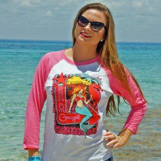 Vintage Pink/Heather Southwestern Mermaid BB Jersey