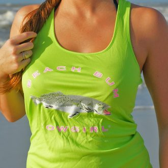 Neon Lime Green Blinged out Trout